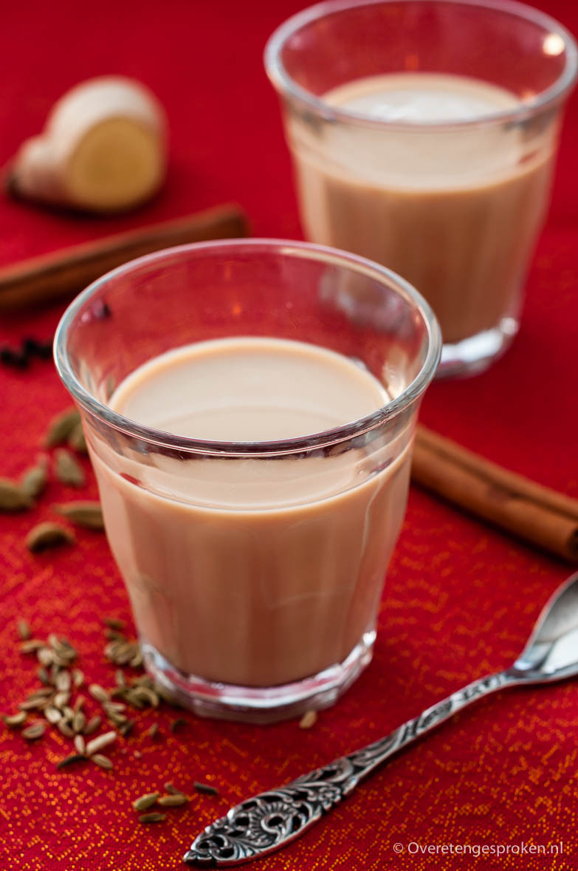Chai - Indiase thee - Heerlijk verwarmende Indiase thee met kardemom, kaneel en gember.