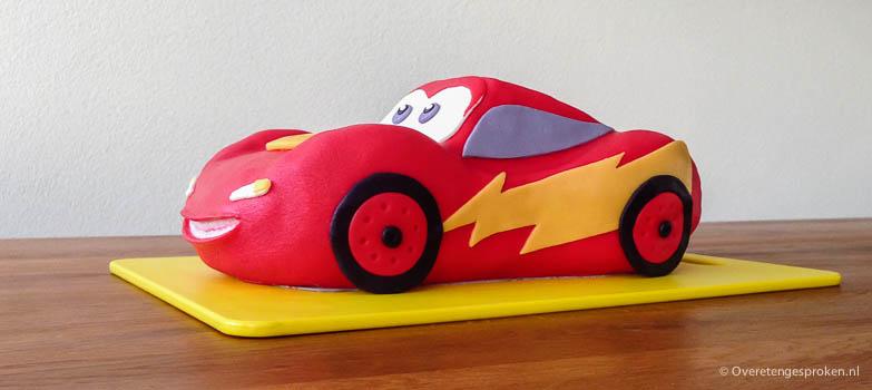 Lightning McQueen taart - www.overetengesproken.nl