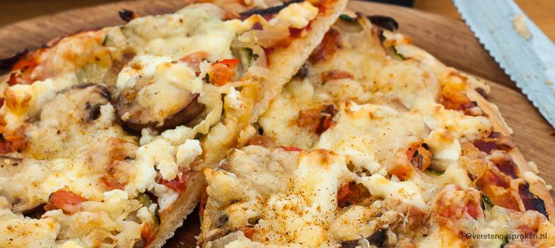Vegetarische mini pizza's