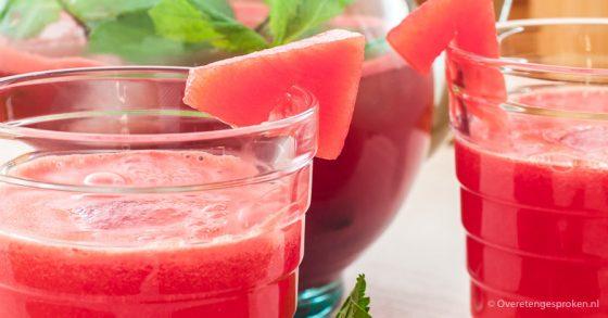 Limonade van watermeloen