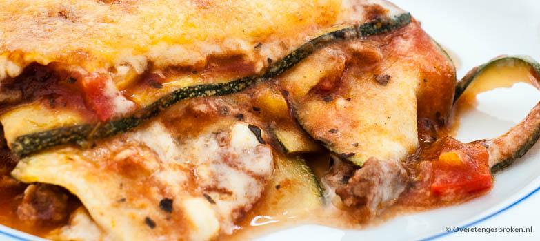 Lasagne van courgette