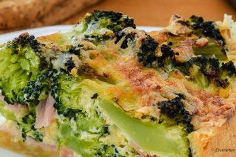 Quiche met broccoli en ham