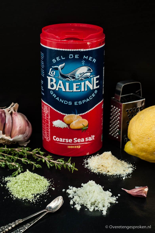 Kruidenzout - Geef zout eens een lekker smaakje èn een mooi kleurtje door het samen met kruiden of specerijen fijn te malen. Decoratief en erg lekker!