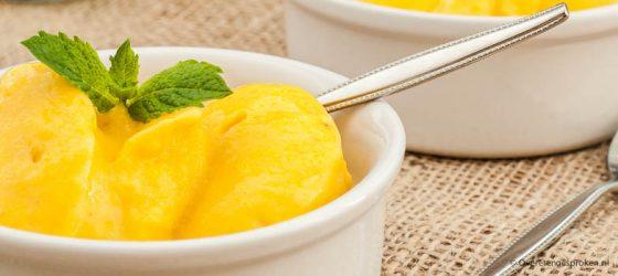 Mango-banaan ijs