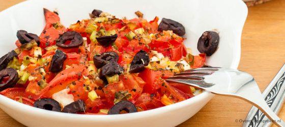 Feta met tomaat uit de oven
