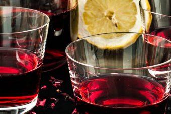 Karkadeh of hibiscus ice tea