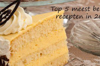 Top 5 meest bekeken recepten in 2017