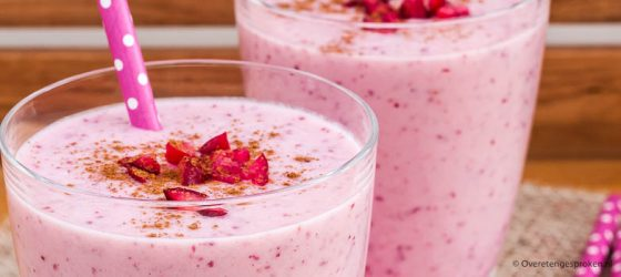 Cranberry smoothie met peer en banaan