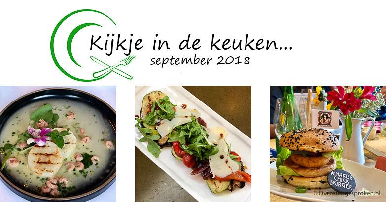 Kijkje in de keuken – september 2018