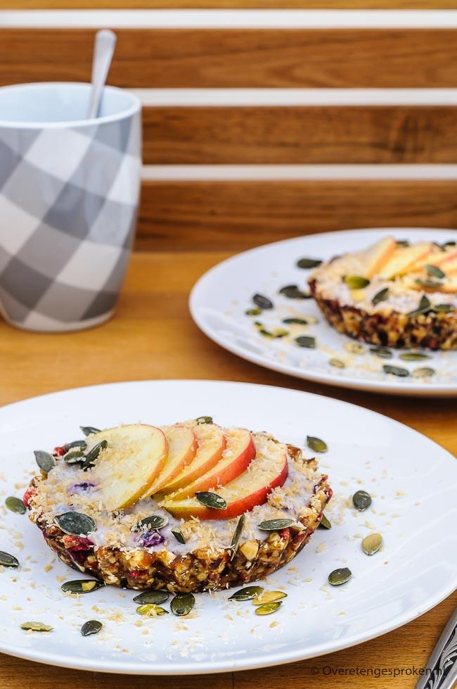 Ontbijttaartjes - Met deze feestelijke ontbijttaartjes start je de dag perfect. Friszoet van smaak en lekker vullend door de noten, vruchten en zaden.
