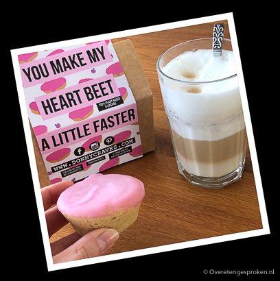 Vegan roze koek