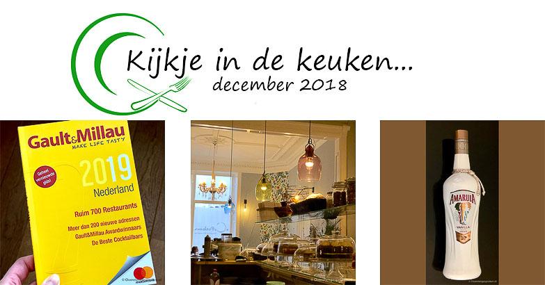 Kijkje in de keuken – december 2018