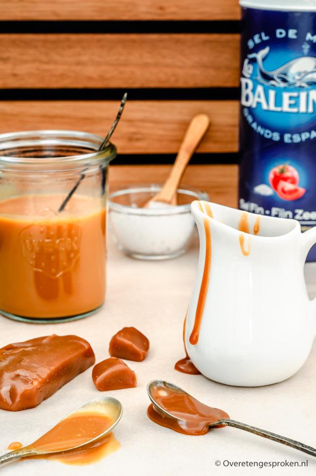 Gezouten karamel - Simpel recept voor overheerlijke karamelsaus. Afhankelijk van de dikte kan je de karamel op meerdere manierengebruiken!