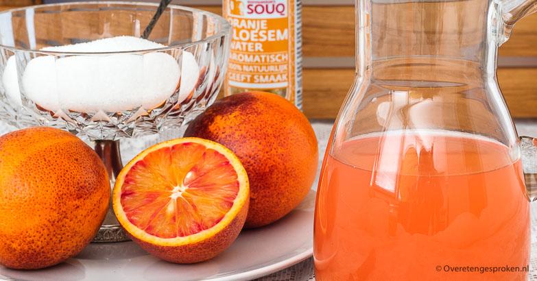 Limonade van bloedsinaasappel