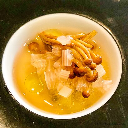 Zout & Citroen - bouillon met enoki