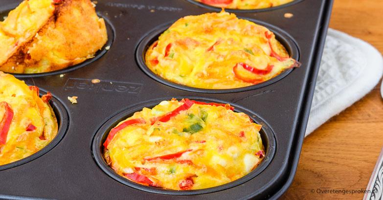 Ontbijtmuffins met groente en feta