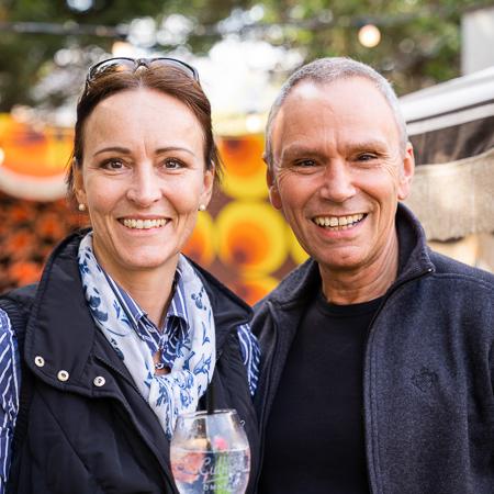 Samen met Michel aan het genieten van Texel Culinair