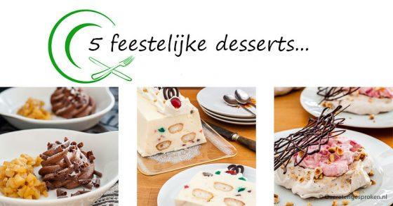 5 feestelijke desserts