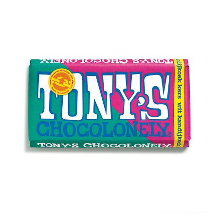 Tony's Chocolonely estafettereep wit kandijkoek kers