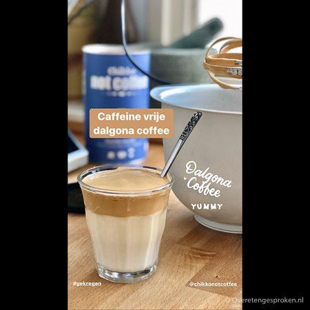 Dalgona coffee met Chikko Not Coffee