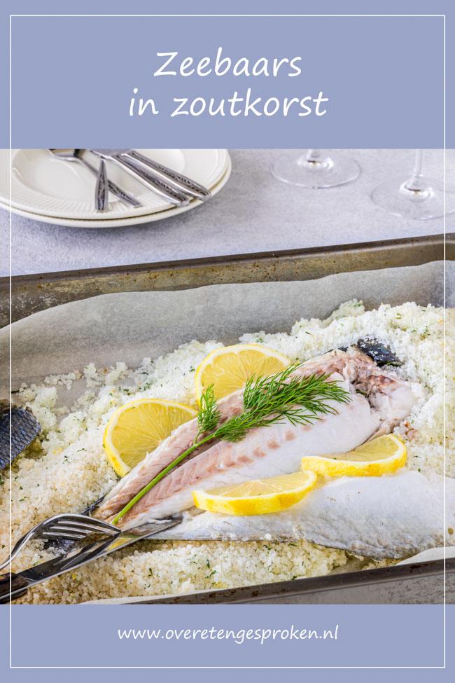 Zeebaars in zoutkorst - Door vis te bereiden in een zoutkorst krijg je super zacht, sappig en smaakvol visvlees. Ik leg je precies uit hoe je dit doet.
