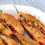 Rode pepers gevuld met rundergehakt - Authentiek recept uit de Indonesische keuken. Niet heel pittig wel super smaakvol en kleurrijk.