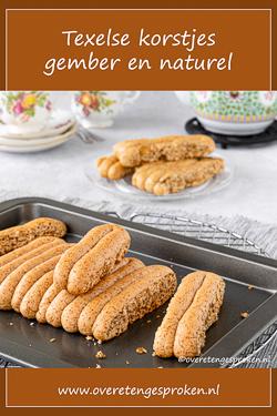 Texelse korstjes met gember en naturel - Gemaakt naar authentiek recept. Lekkerder dan taai taai en ontbijtkoek en heel leuk om te maken!