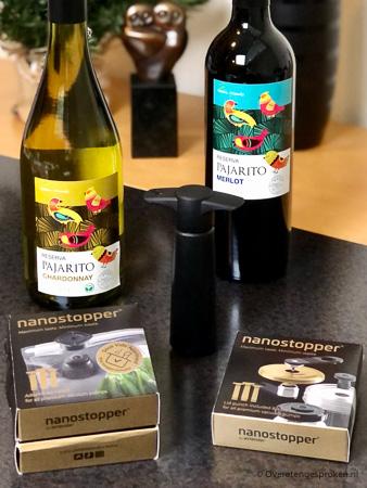 Natuurvriendelijke Pajarito wijn en nanostoppers