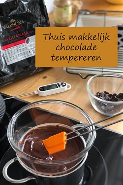 Thuis makkelijk chocolade tempereren - Zonder knoeien perfect uitgeharde en glanzende chocolade creaties maken. Ik leg het je uit!