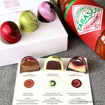 Limited Edition Tabasco Sriracha bonbons - Madak