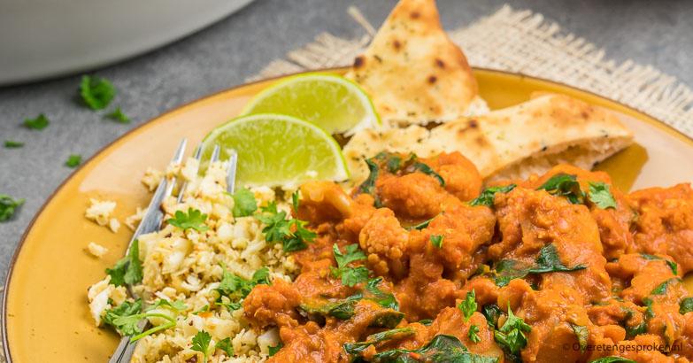 Rode curry met bloemkool en aardappel