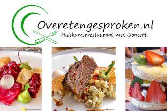 Huiskamerrestaurant met thuisconcert