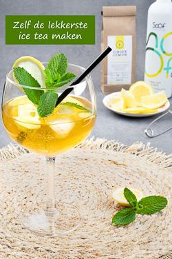Zelf ice tea maken - IJsthee is niet alleen simpel te maken het is ook de allerlekkerste. Ik leg het je uit en geef je mijn favoriete recept.