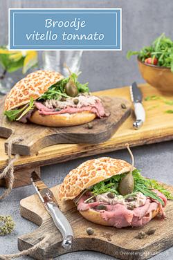 Broodje vitello tonnato - Met deze lunch scoor punten bij je tafelgenoten. Super lekker, ziet er leuk uit èn makkelijk om te maken.