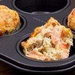 Zalmmuffins of mini quiches - Luchtige eimuffins gevuld met zalm, venkel, verse kruiden en wat kaas. Vol en rijk van smaak, echt zó lekker!